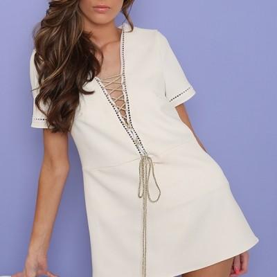 Tailored Criss Cross Dress